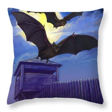 Batsfly Throw Pillow