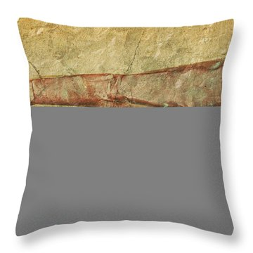 Battered Old Trumpet Throw Pillow by Michal Boubin