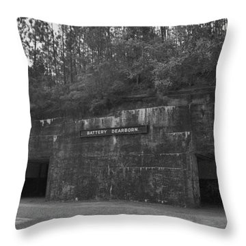 Battery Dearborn Throw Pillow by Richard Rizzo