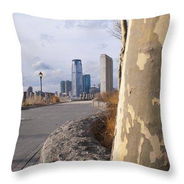 Battery Park Throw Pillow by Henri Irizarri