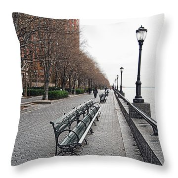 Battery Park Throw Pillow by Michael Peychich