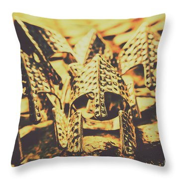 Battle Armoury Throw Pillow