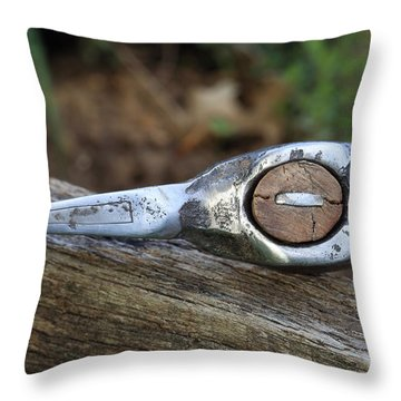 Battle Axe With Etched Decoration Throw Pillow