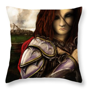 Battle For Greendale Throw Pillow by Jeremy Martinson