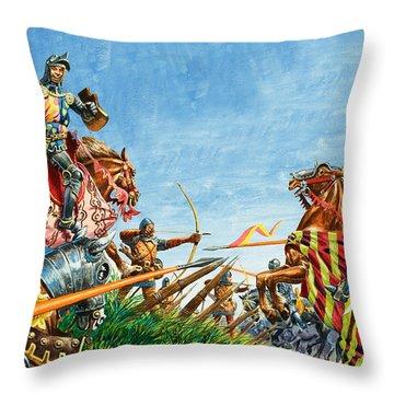 Battle Of Agincourt Throw Pillow