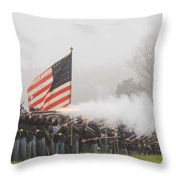Battle Of Appomattox Courthouse Throw Pillow by Alan Raasch