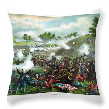 Battle Of Bull Run Throw Pillow