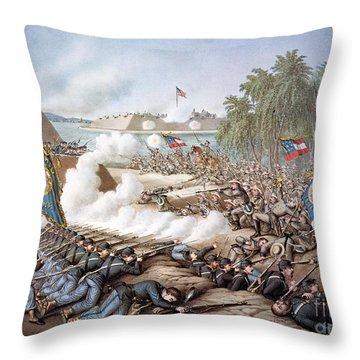 Battle Of Corinth, 1862 Throw Pillow by Granger