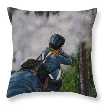 Battle Of Fort Dade Throw Pillow