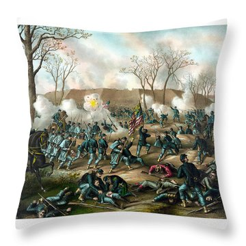 Battle Of Fort Donelson Throw Pillow