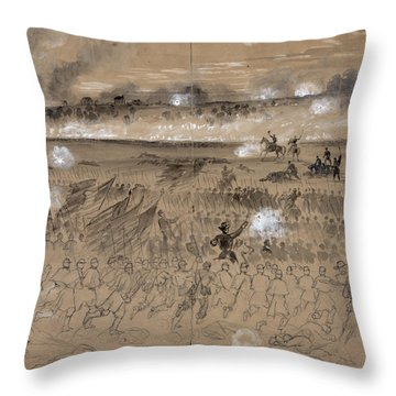 Battle Of Fredericksburg Throw Pillow by Granger