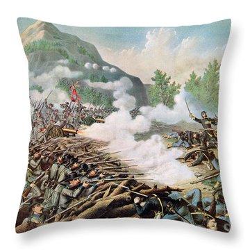 Battle Of Kenesaw Mountain Georgia 27th June 1864 Throw Pillow by American School