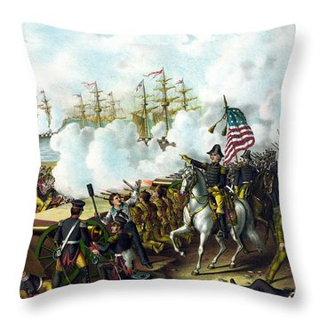 Battle Of New Orleans Throw Pillow by War Is Hell Store