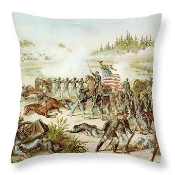 Battle Of Olustee Throw Pillow by American School
