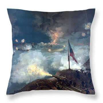 Battle Of Port Hudson Throw Pillow