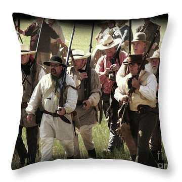 Battle Of San Jacinto Throw Pillow
