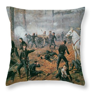 Battle Of Shiloh Throw Pillow by T C Lindsay