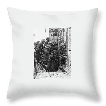 Battle Of Stalingrad  Nazi Infantry Street Fighting 1942 Throw Pillow