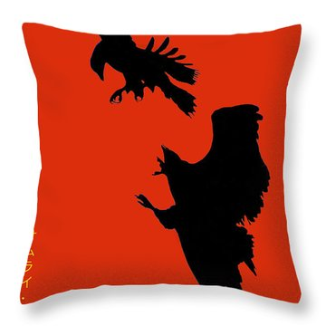 Battle Of The Eagles Throw Pillow