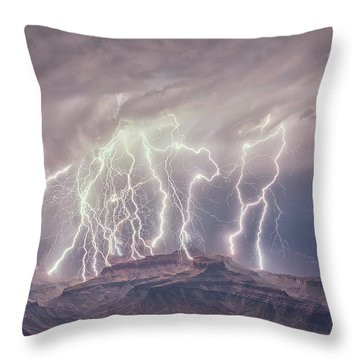 Battle Of The Gods Throw Pillow