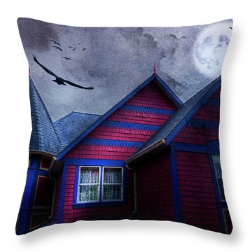 Throw Pillow featuring the photograph Battle Street West by Theresa Tahara