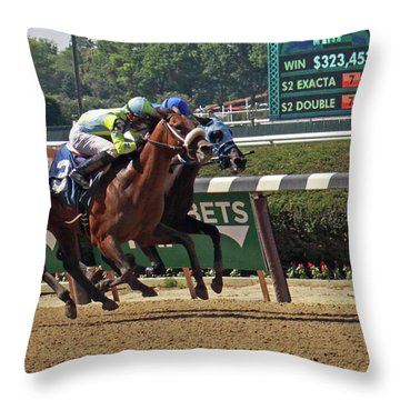 Battle To The Finish Throw Pillow