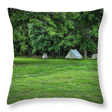 Battlefield Camp 2 Throw Pillow