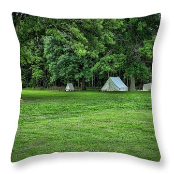 Battlefield Camp 2 Throw Pillow