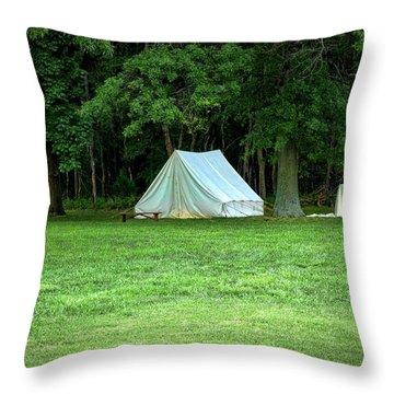 Battlefield Camp Throw Pillow