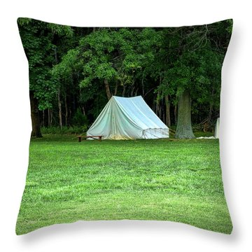 Battlefield Camp Throw Pillow