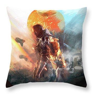 Battlefield Poster Throw Pillow