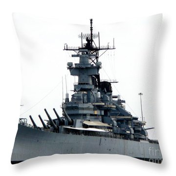 Battleship New Jersey Throw Pillow