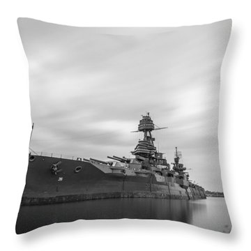 Battleship Texas Throw Pillow