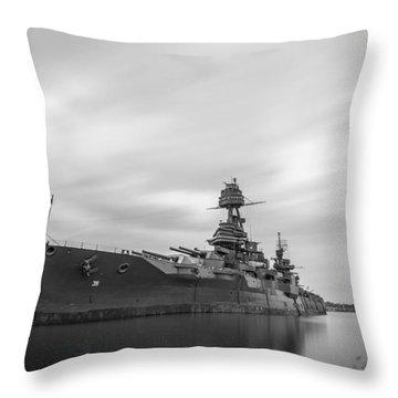 Battleship Texas Throw Pillow