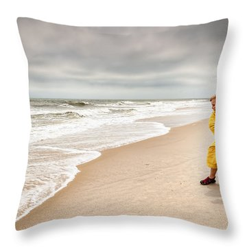 Battling The Elements Throw Pillow
