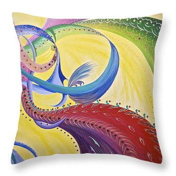 Baubles N Bows Throw Pillow