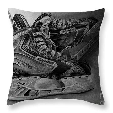 Bauer Vapor X100 Ice Hockey Skates  Throw Pillow