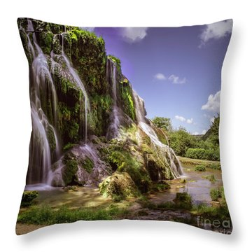 Baume Les Messieurs, France. Throw Pillow