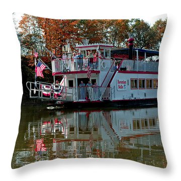 Throw Pillow featuring the photograph Bavarian Belle Riverboat by LeeAnn McLaneGoetz McLaneGoetzStudioLLCcom