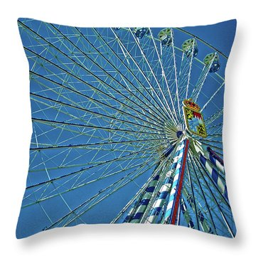 Bavarian Fairy Wheel Throw Pillow by Juergen Weiss