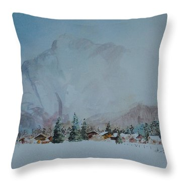 Bavarian Winter Throw Pillow