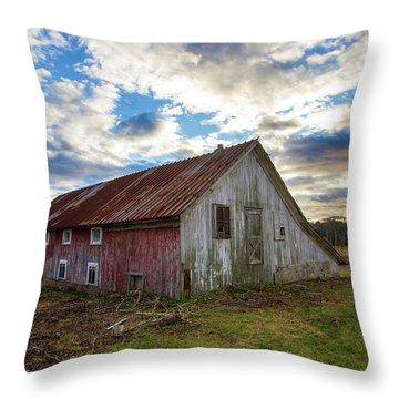 Bay Avenue Barn Throw Pillow