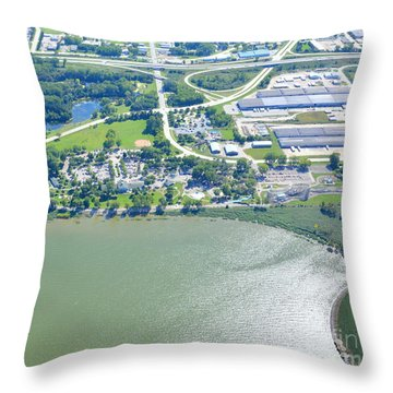 Bay Beach Amusement Throw Pillow
