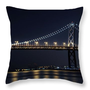Bay Bridge Throw Pillow by Catherine Lau