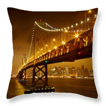 Throw Pillow featuring the photograph Bay Bridge by Evgeny Vasenev