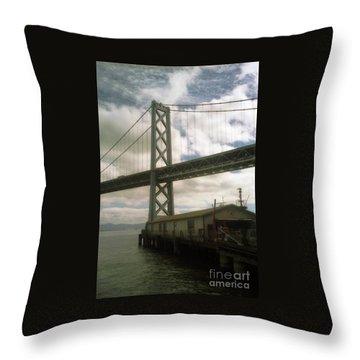 Bay Bridge San Francisco Waterfront Throw Pillow