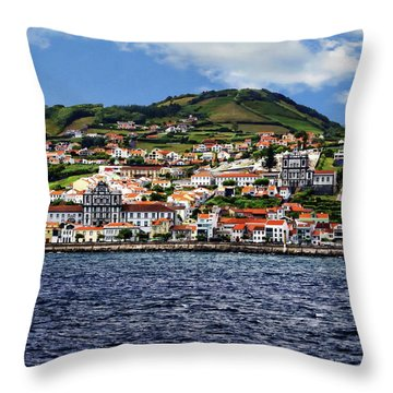 Bay Of Horta Throw Pillow