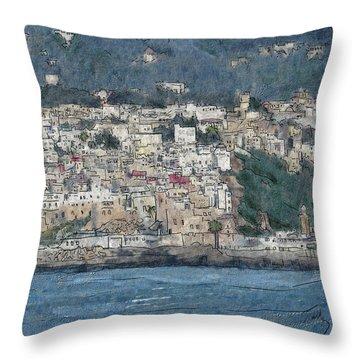 Bay Of Tangier Throw Pillow
