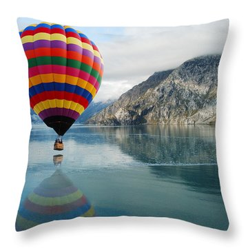 Bay Skimmer Throw Pillow by Michael Peychich