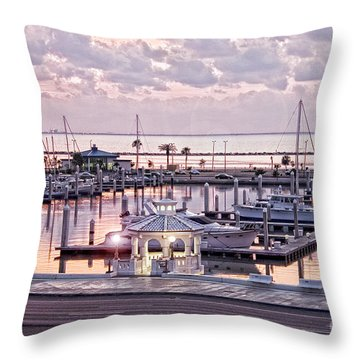 Bay Sunrise Throw Pillow